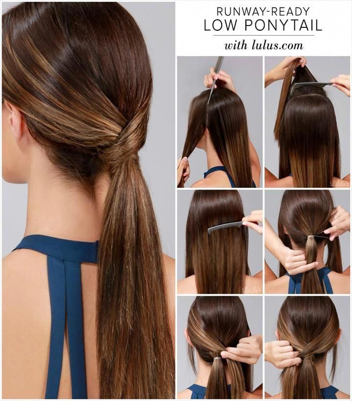 Easy Run-Way Ready Low Ponytail Hairstyle - 25 DIY Hairstyles You Can Do With These Step by Step Tutorials #easyhairstyles