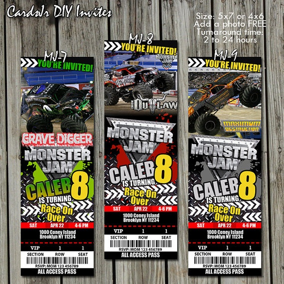 16 best images about Monster Jam Birthday Party on Pinterest
