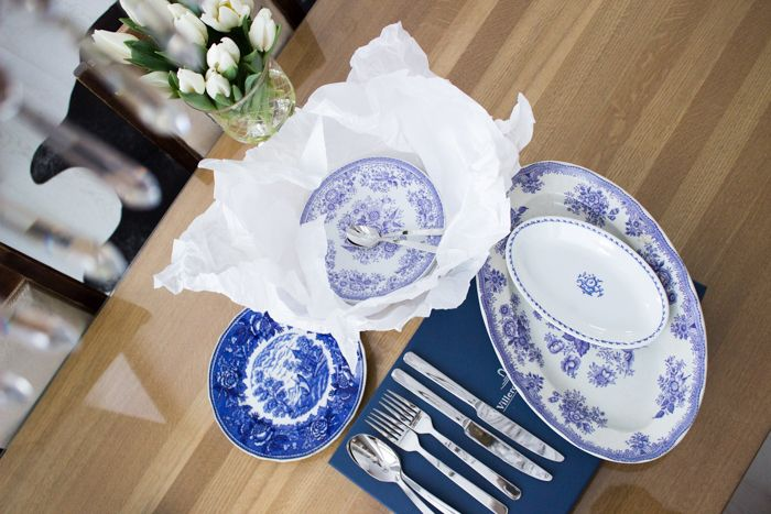 Blue & white Arabia dishes / www.kaitholmen.com