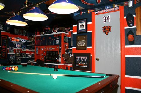 17 Best Images About Chicago Bears Room Amp Wo Man Caves On