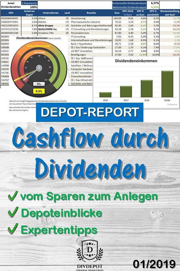 Cashflow durch Dividenden – Depot Report Januar 2019