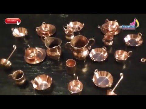 MINIATURAS: Como hacer una vajilla de aluminio - YouTube