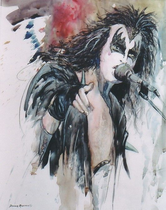 Gene Simmons concert portrait by ~denniskalichuk on deviantART