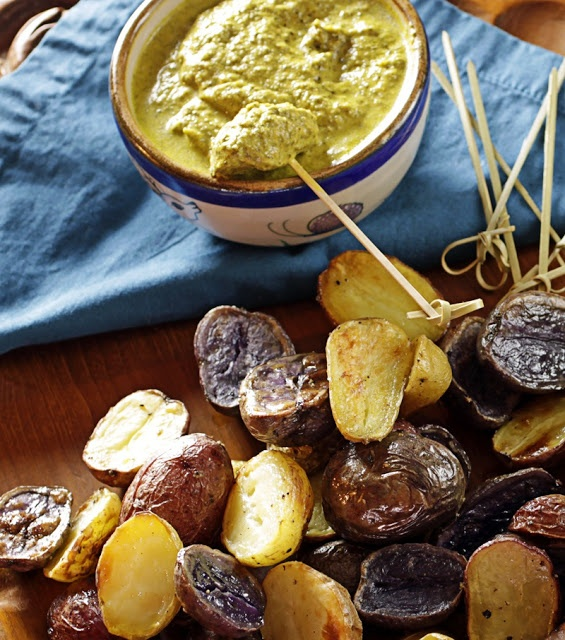 Andean-Style Roasted Potatoes With Huatacay-Yellow Chili