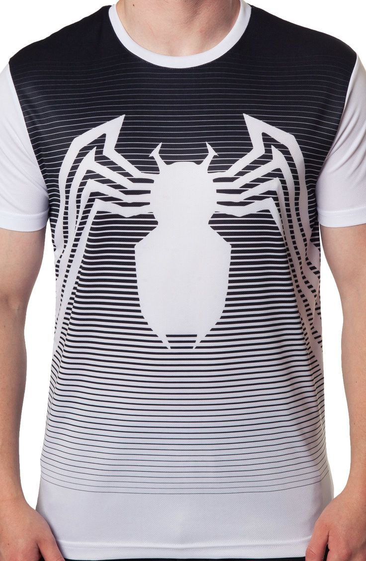 Striped Venom Shirt: Marvel Comics Mens T-Shirt