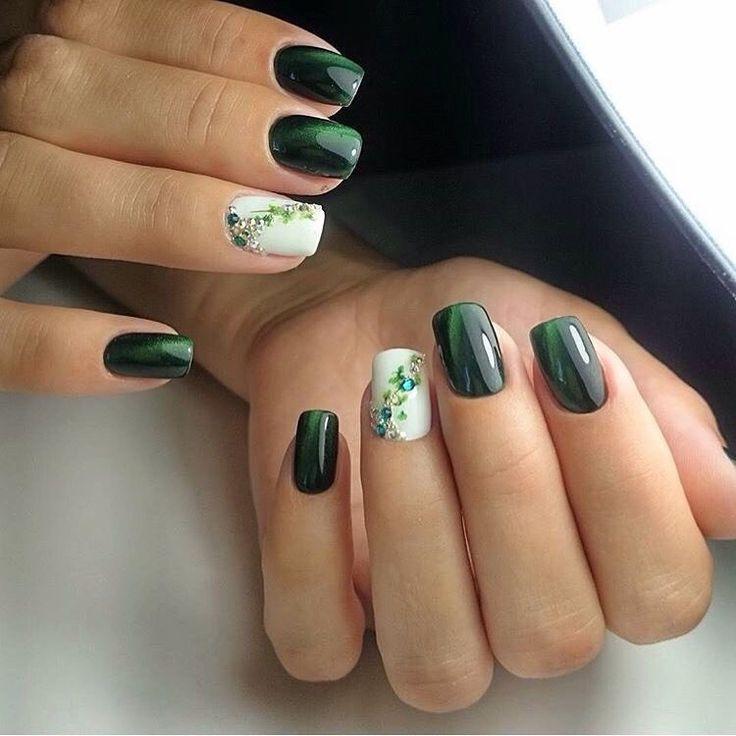 Beautiful nails 2017, Cat eye nails, Evening dress nails, Evening nails, Luxury…