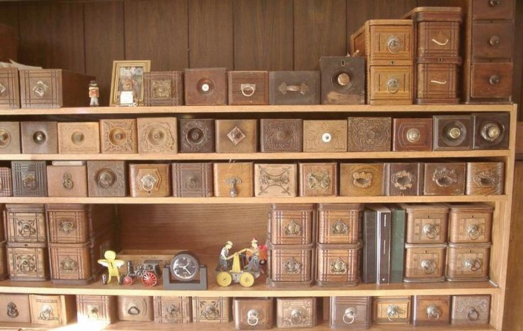 Old Sewing Machine Drawers Create A Wall Of Them