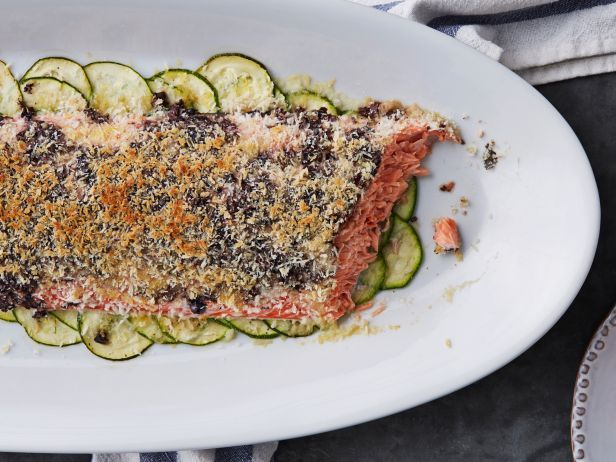 Slow-Cooked Salmon with Olive-Bread Crumb Sprinkle from the new #ChoppedCookbook
