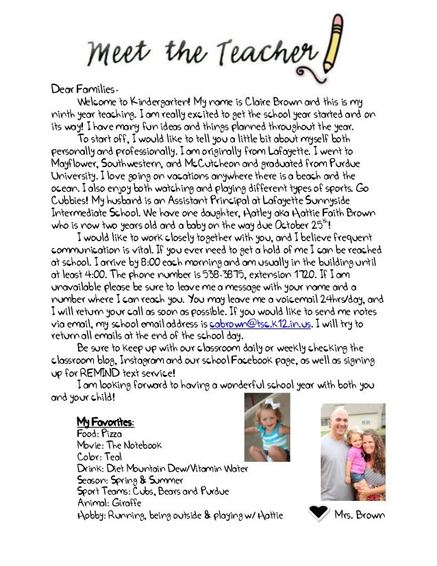 7 WELCOME LETTER FOR PARENTS PRESCHOOL, FOR WELCOME