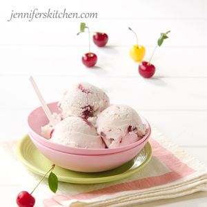 Cherry Vanilla Vegan Ice Cream | Jennifer's Kitchen
