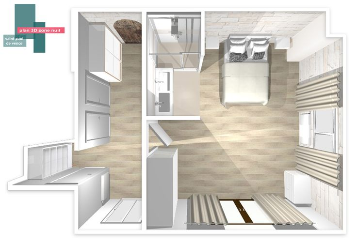 Plan 3d suite parentale b indoor http www b indoor for Suite parentale 25m2