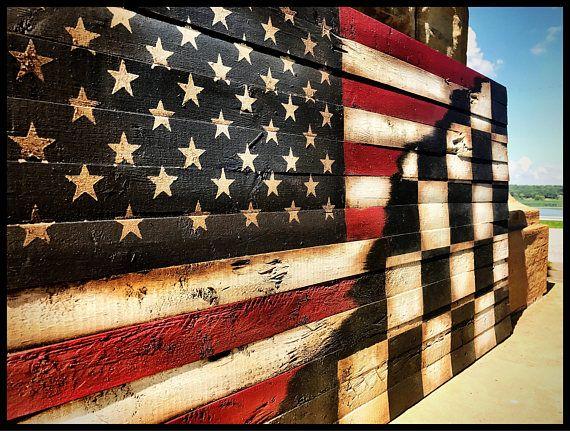American Flag, Checkered Flag, Rustic American Flag, Racing Flag, NASCAR, Wooden American Flag