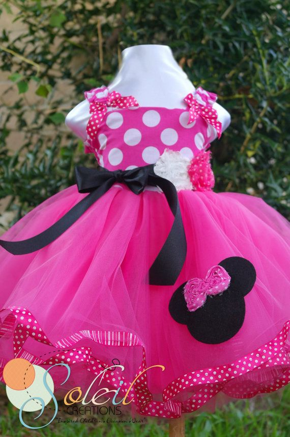 Minnie Mouse Dress Baby Toddler Birthday by SCbydesign on Etsy