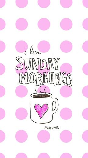 I love Sunday mornings! | #Coffee #Sunday