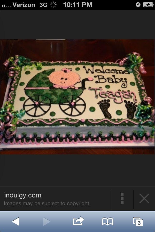 Camo lil girl cake !!