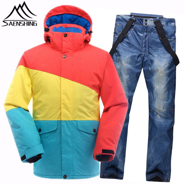 Saenshing Winter Ski Suits for Men Ski Jacket Hooded  Waterproof Pants Super Warm Male Snowboarding Suits Men Outdoor Wear