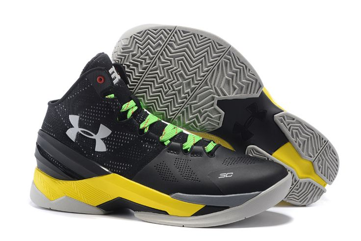 Under Armour Curry 2 Black Grey Neon Lime Shoes | Stephen curry basketball  shoes | Pinterest | Curry, Armours and Neon