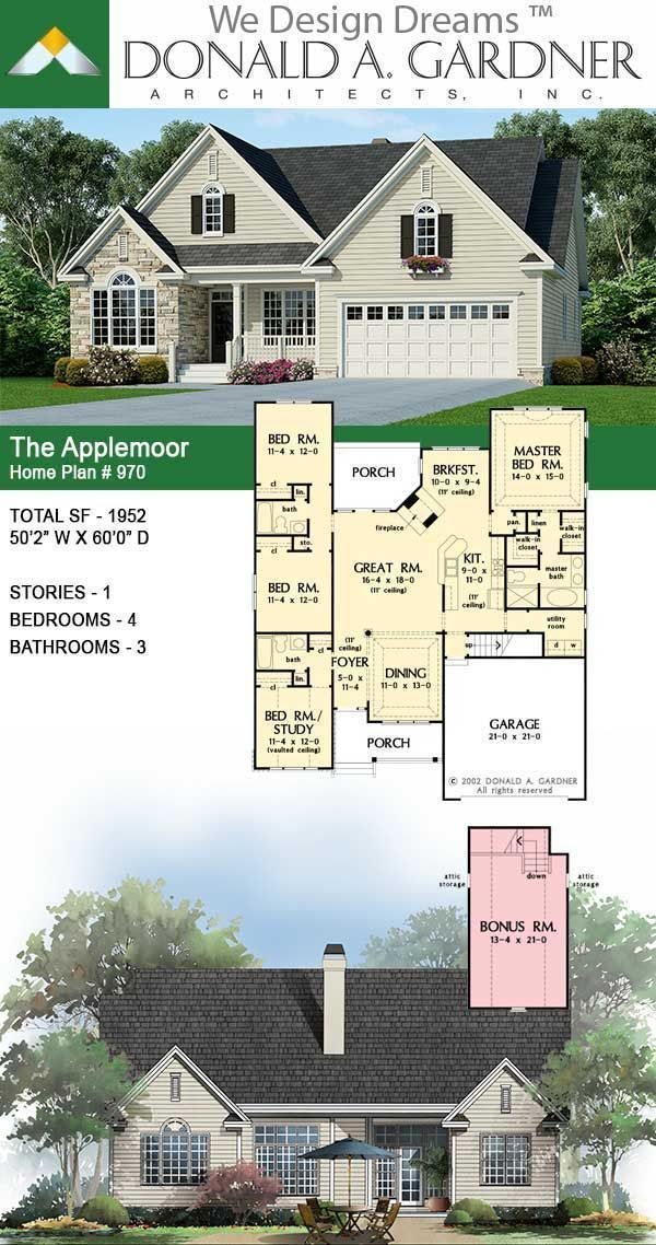 The Applemoor House Plan 970 In 2020 New House Plans Craftsman House Plans House Plans Farmhouse