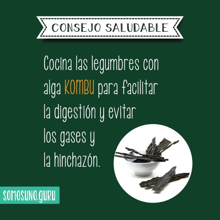 Consejo saludable: cocina las legumbres con alga KOMBU para facilitar la digestión y evitar los gases y la hinchazón.