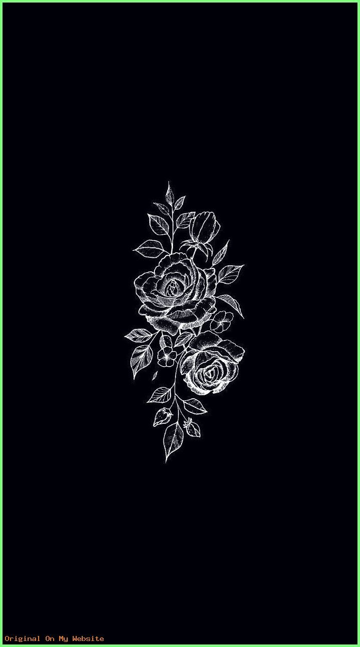 Wallpaper Tumblr Aesthetic Wallpaper Black Flowers Wallpaper Black Aesthetic Wallpaper Dark Wallpaper