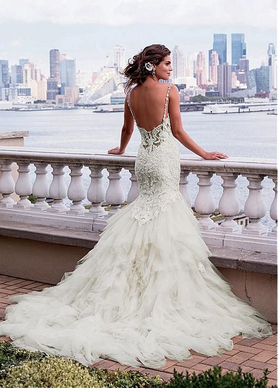 Fabulous Tulle Spaghetti Straps Neckline Mermaid Wedding Dresses With Lace Liques