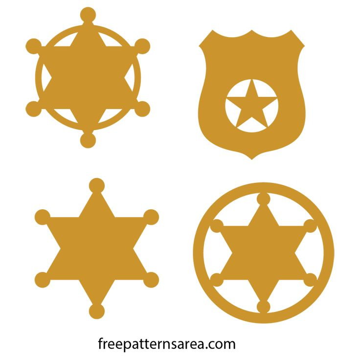 The sheriff's badge has an ironic meaning against the lawlessness of the wild west. The sheriff badge symbol represents the law in the face of lawlessness. The sheriff wears badges for the community they serve proudly. To protect, serve and help others, we prepared you badges.You can use these designs in a lot of work: