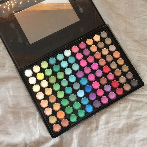 BH Cosmetics 88 Matte Palette BH Cosmetics 88 matte bright colored eyeshadow palette. Swatched some of the colors but I only used one or two shades. Very good palette to have if you like colorful looks. There's pretty much the rainbow in there. BH Cosmetics Makeup Eyeshadow