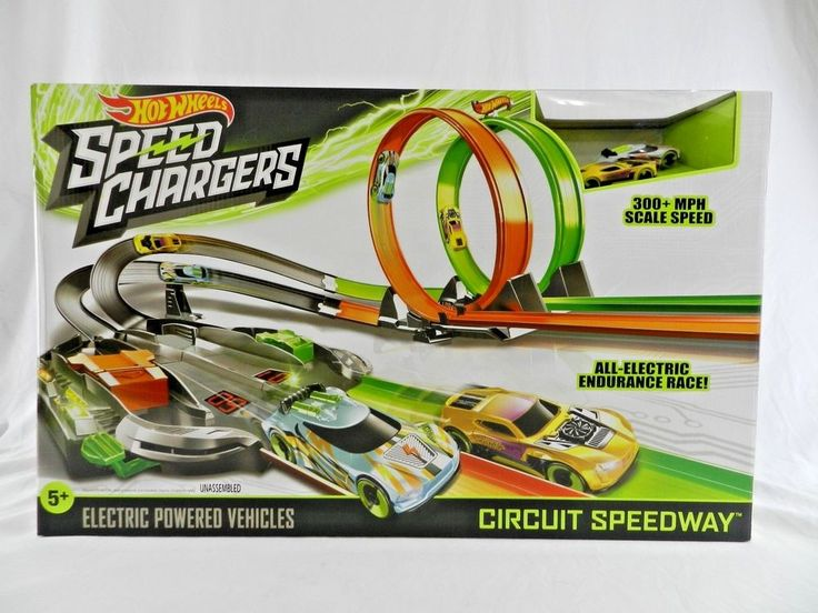 I Have Listed A New In The Box Hot Wheels Speed Chargers The Set Includes 2 Electric Powered Cars Electric Powered Veh Power Cars Electric Power Hot Wheels