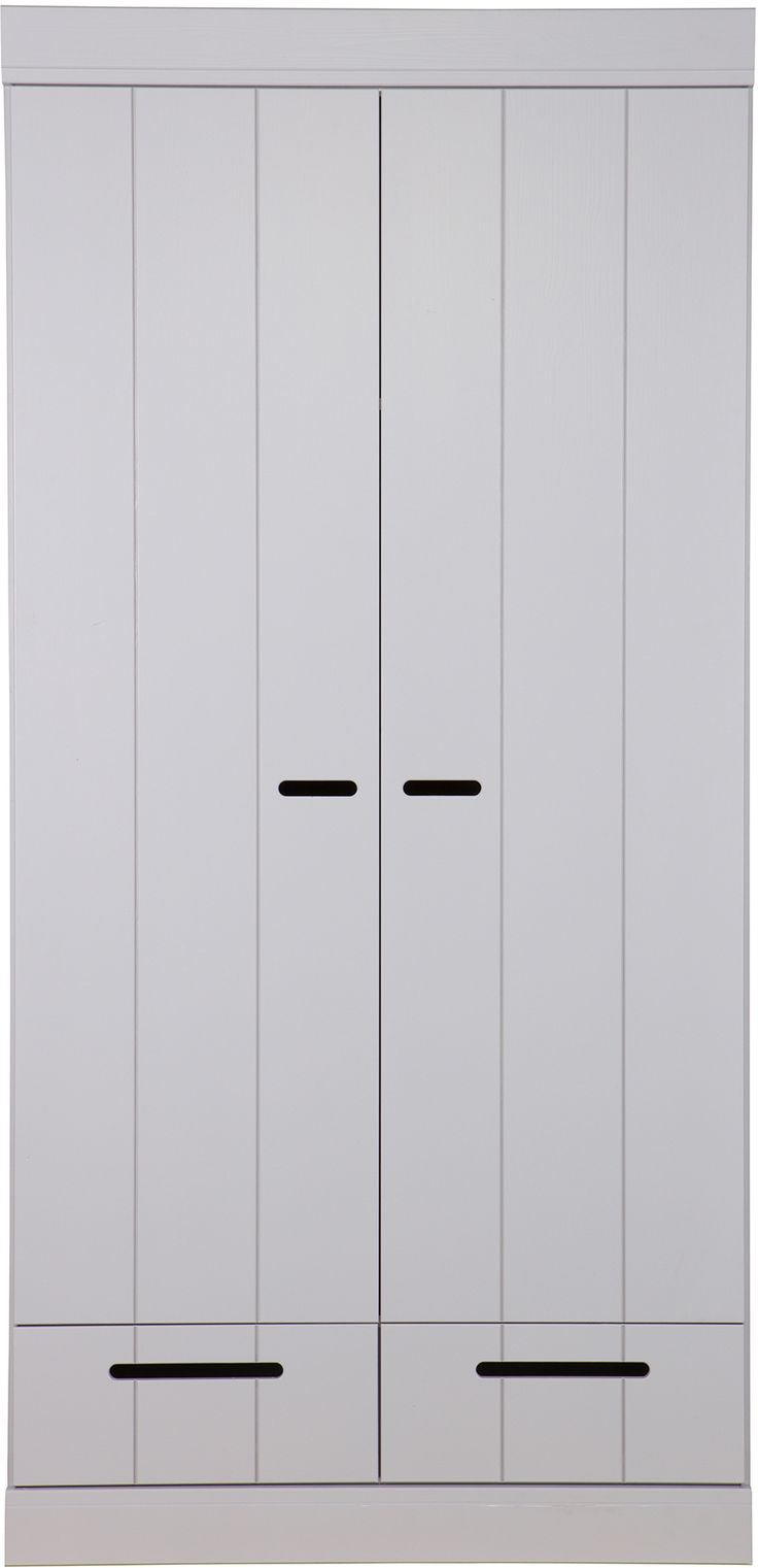 Connect 2-deurs + lade grijs - Woood