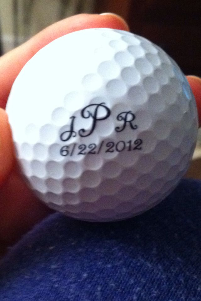 Wedding favor - perfect if you want to tie in a golf theme when hosting your reception at River Oaks Golf Course