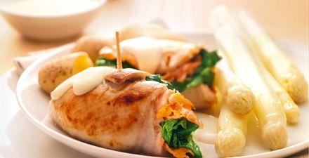 Recept van Gevulde kipfilet met briesaus