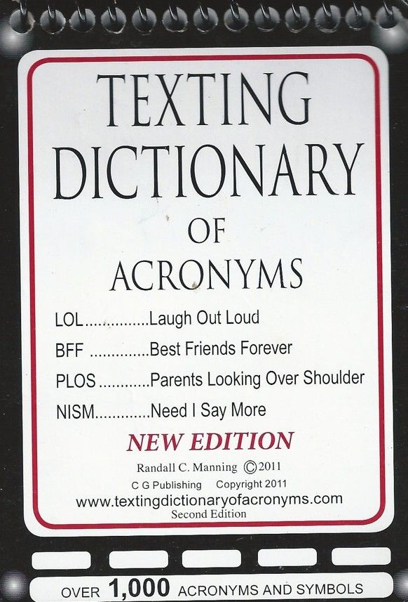 Texting Symbols | ... words and acronyms that arrive in kids' e-mails and text messages