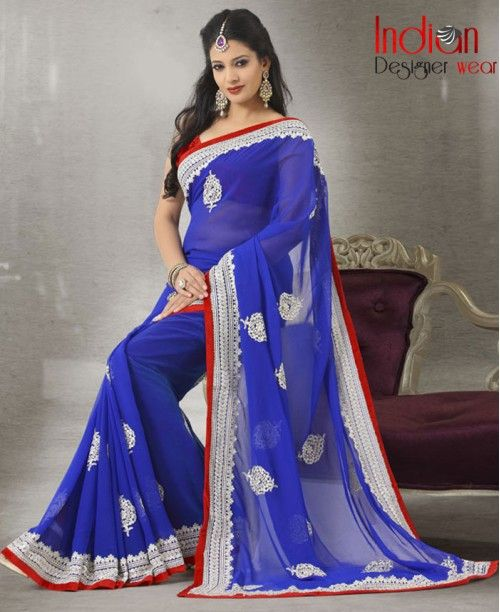 Exquisite Blue Saree