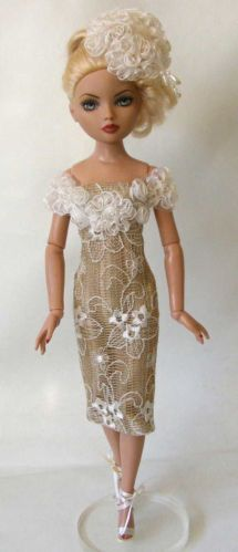 Golden Girl OOAK Special Occasion Outfit for Ellowyne and Friends by MPH | mypinkheaven via eBay ends 11/25/13 Bid $15