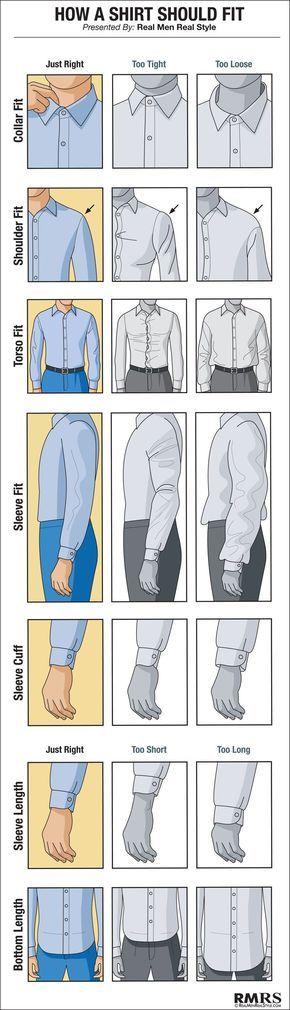 Así te debe de ajustar una camisa para vestir no te debes ver apretado ni holgado debes verte bien