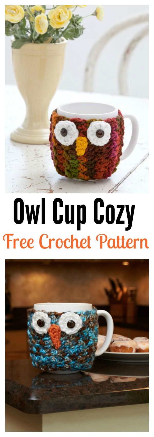 757 best images about owl crochet patterns uil for Cup cozy pillow