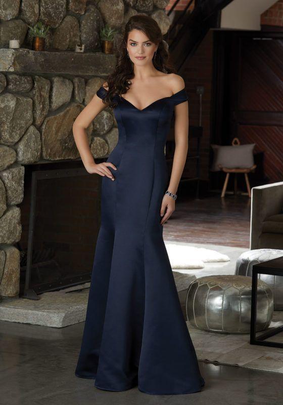 3ecc14a2812 Elegant Chiffon Bridesmaid Dress with a Deep V-Neckline