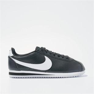 Nike Classic Cortez Leather, Black, medium