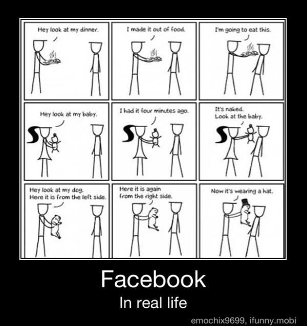 Faceboook in Real LifeLaugh, Real Life, Facebook, Random, Funny Stuff, So True, Humor, Things, Giggles