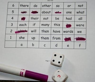 coordinate word work- I could see kids really loving this!  Have them (1) roll, (2) locate, (3) write, & (4) highlight. by PricklyPaw