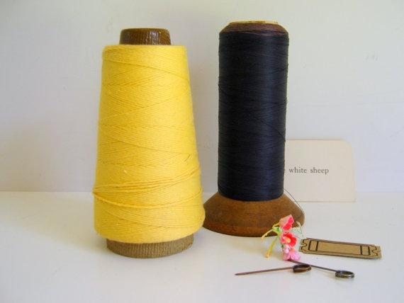 Vintage Thread Cones Ephemera Keeper by RollingHillsVintage, $14.50