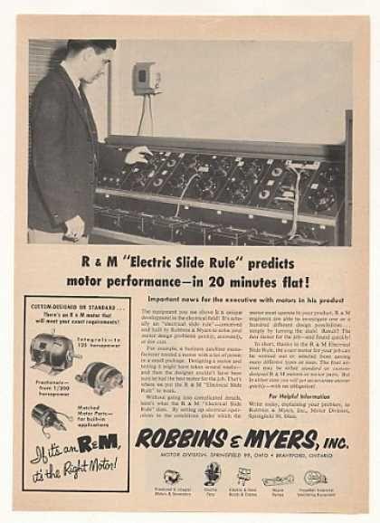 '53 Robbins & Myers Motors Electric Slide Rule (1953)