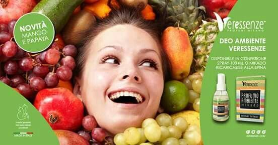 Deo Ambiente Veressenze mango e papaya...porta il profumo dei Tropici a casa tua!