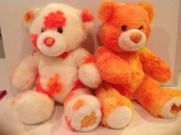 BABW~Build A Bear ALL SEASONS Autumn Fall Leaf Orange ...