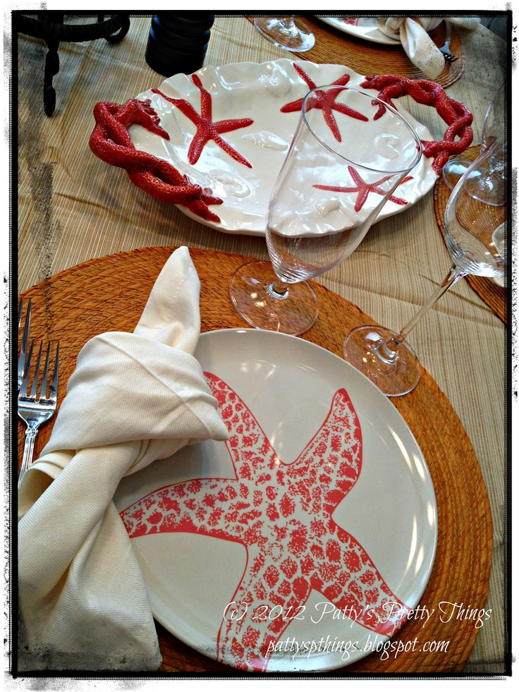 great ideas from World Market for a coastal holiday look, just add a little pop of blue (or red?)