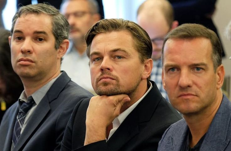 Leo was intently listening to a speech about the environment. Because if he wasn't perfect enough already, he also cares about the environment.