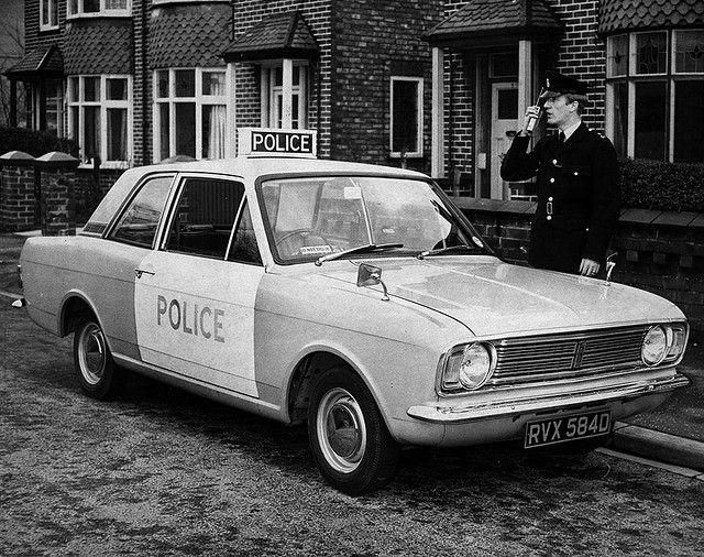 Manchester City Police Ford Cortina Patrol Car From The Mid 1960s