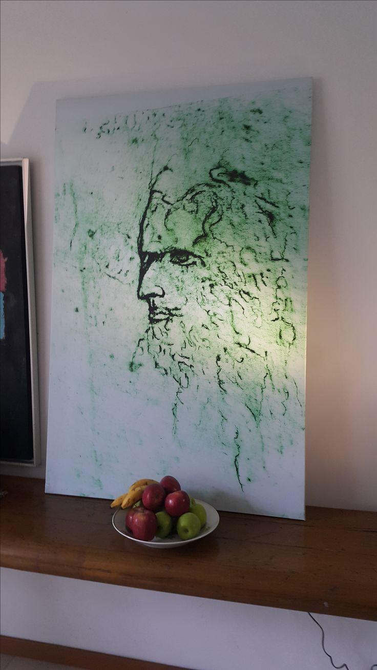 zeus de chambú reproducción en tela plástica de valla 90x153 m 2016 colección Antonio Flórez B.