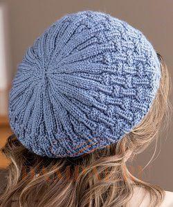 простая вязаная шапочка