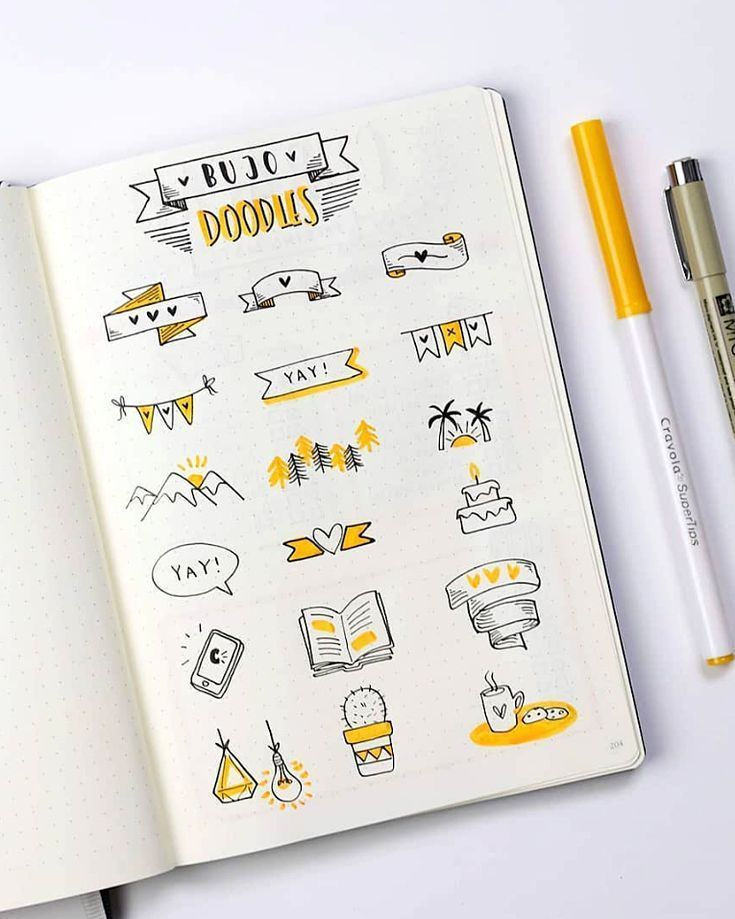 Cute bullet journal doodles by ig@dutch_dots. | am…